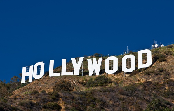 Picture the inscription, Hollywood, Hollywood