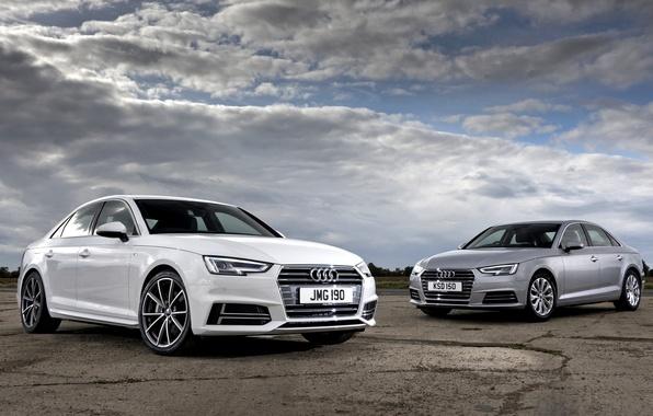 Picture the sky, clouds, Audi, Audi, sedan, 2015