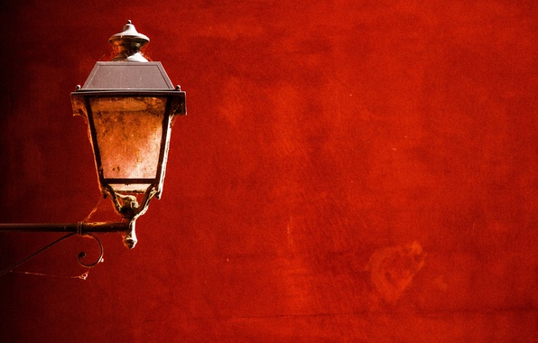 Picture red, wall, lamp