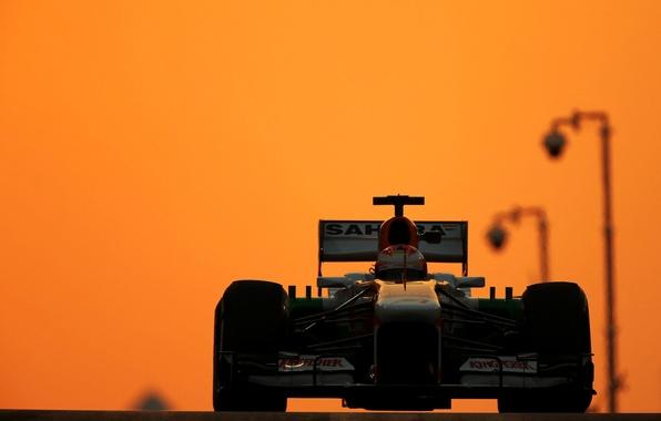 Picture lights, glow, formula 1, the car, Motorsport