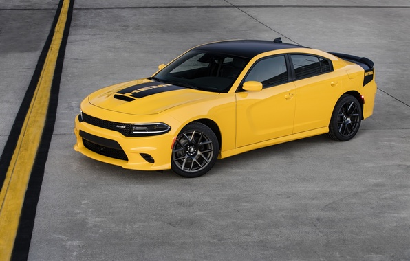 Picture yellow, Dodge, car, Dodge, Charger, the charger, Daytona