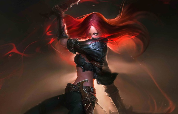Picture weapons, art, League of Legends, Katarina