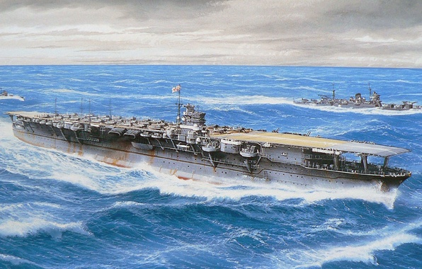 wallpaper ship  art  the carrier  navy  military  cruiser  japanese  destroyer  cruiser  ww2