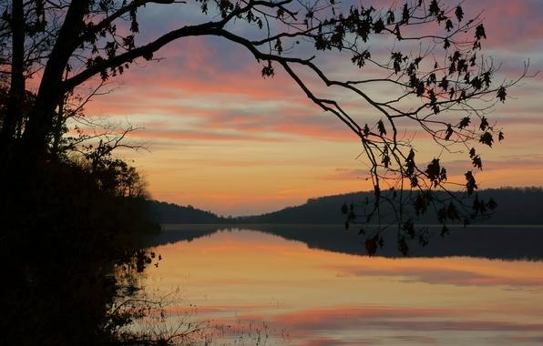 Picture morning, Missouri, Mark Twain National Forest, Crane Lake