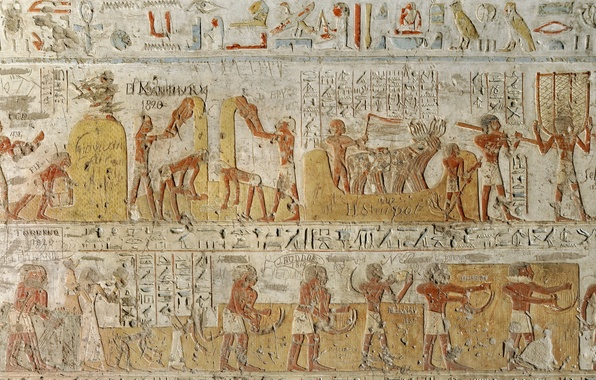 Picture style, wall, Egypt, antiquity, Characters