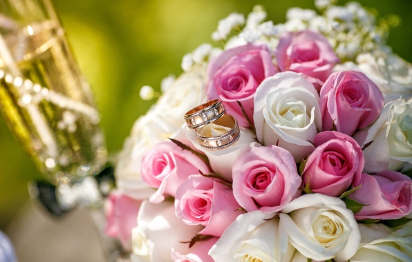 Picture flowers, roses, bouquet, pink, wedding, flowers, bouquet, roses, wedding
