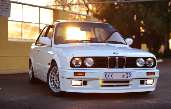 Picture BMW, white, front, E30