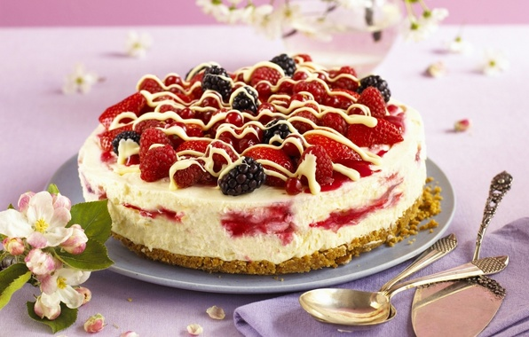 Picture raspberry, food, strawberry, cake, cake, fruit, cake, cream, dessert, food, BlackBerry, sweet, fruits, cream, dessert, …