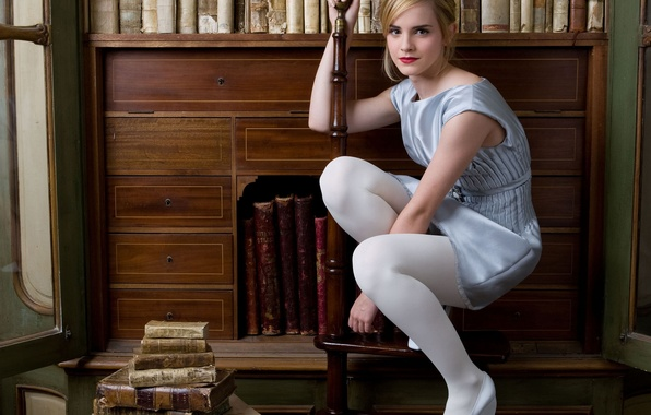 Wallpaper White, Emma Watson, Hermione, Tights, Harry Potter Images For Desktop -2646
