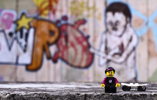 Picture toys, lego, figures, LEGO, emo, skater