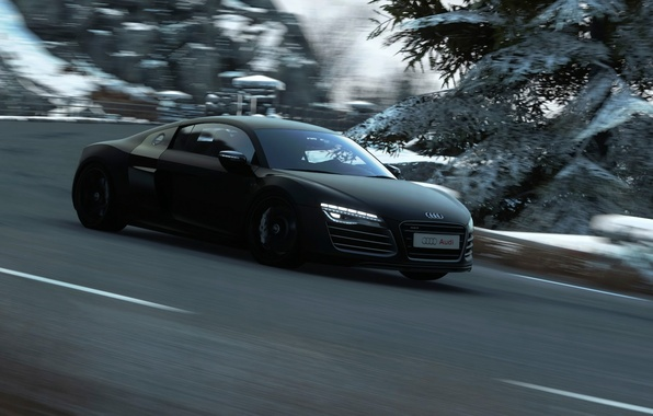 Picture Audi, speed, track