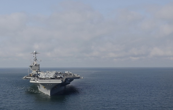 "Photo wallpaper sea, the carrier, Harry S. Truman, the sky, USS, (CVN-75), type ""Nimitz"""