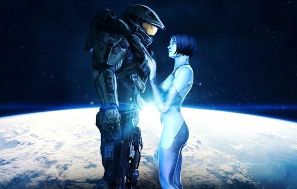 Picture space, Halo, Cortana, Master Chief, John-117