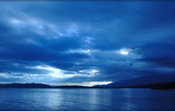 Picture sea, blue, sea, sunset, blue, Corsica, corse, sunset