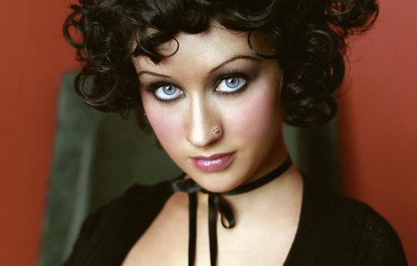 Picture piercing, brunette, singer, Christina Aguilera, celebrity, Christina Aguilera