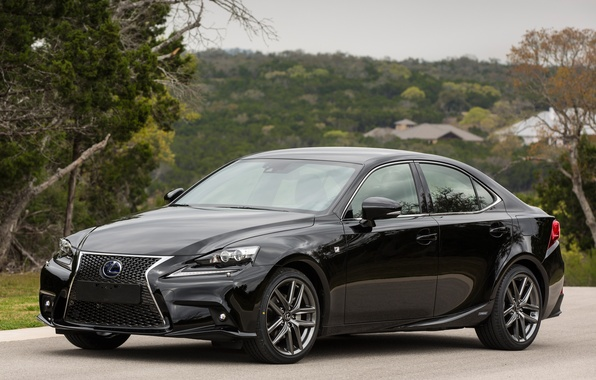 Picture car, Lexus, black, auto, wallpapers, F-Sport, IS 300h