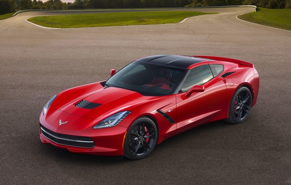 Picture Red, Auto, Corvette, Chevrolet, Asphalt, Sports car