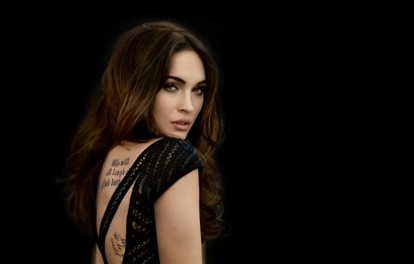 Picture look, Megan Fox, smile, actress, tattoo, smile, tatoo, look