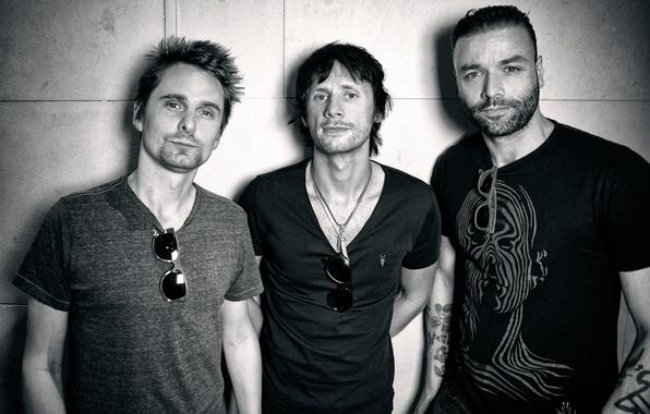 Picture Muse, Chris Wolstenholm, Matthew Bellamy, Dominic Howard, British rock band