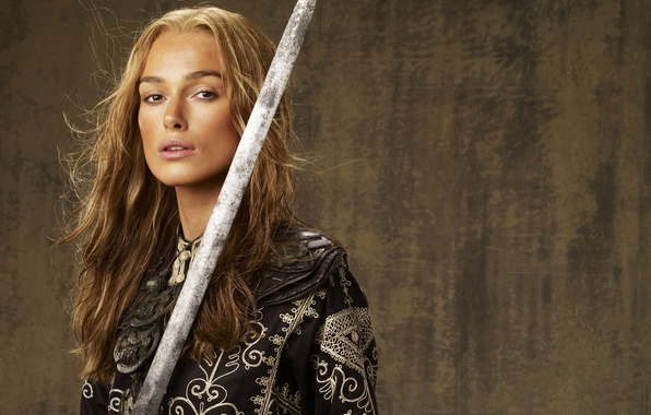 Picture sword, Keira Knightley, Keira Knightley, Pirates of the Caribbean, Pirates of the Caribbean: At world's …