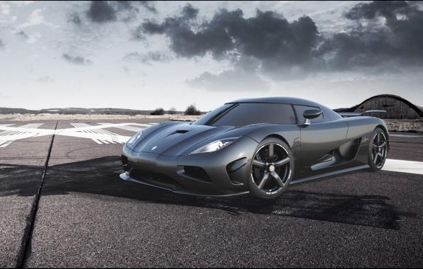 Picture the sky, Koenigsegg, supercar, carbon, the front, hypercar, agera R, Koenigsegg, Agera R