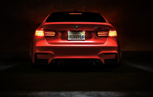 Picture BMW, Light, Orange, Car, Tuning, Vossen, Low, Wheels, Rear, F80, Perfomance
