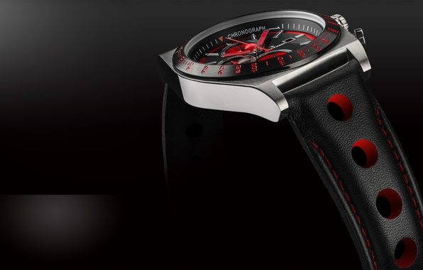 Picture red, black, clock, watches