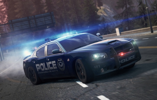 Photo Wallpaper Dodge SRT8 NFS 2012 Charger Police Need For