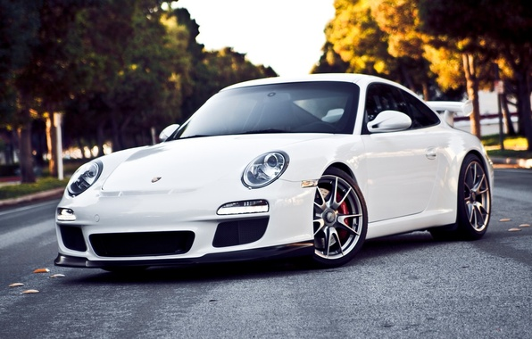 Picture white, 911, Porsche, GT3