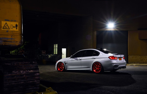 Picture BMW, German, Red, Car, White, Wheels, Rear, Ligth