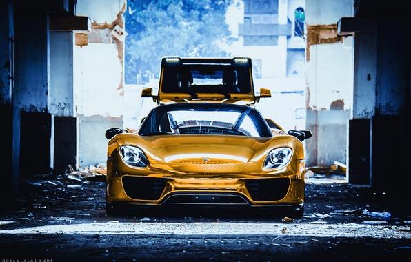 Picture Porsche, Spyder, 918, Golden