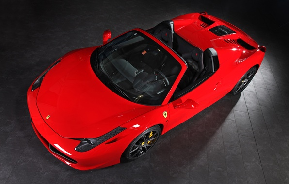Picture Red, Convertible, Ferrari, 458, The view from the top, Spider, Kupeška, Capristo
