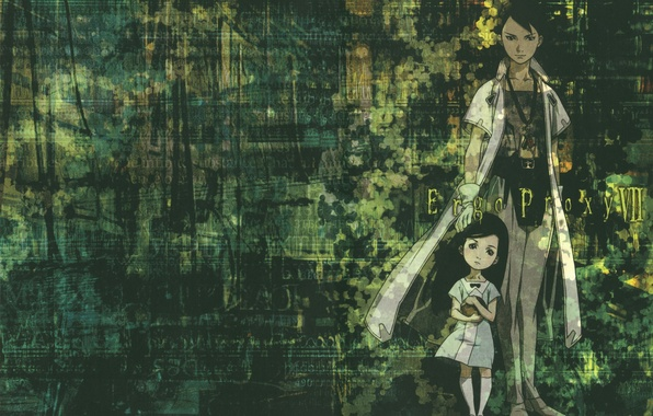 Photo Wallpaper Robot Child Bathrobe Ergo Proxy Daedalus Yumeno