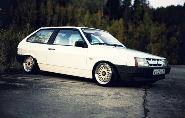 Picture white, Lada, VAZ, 2108, BBS, stance