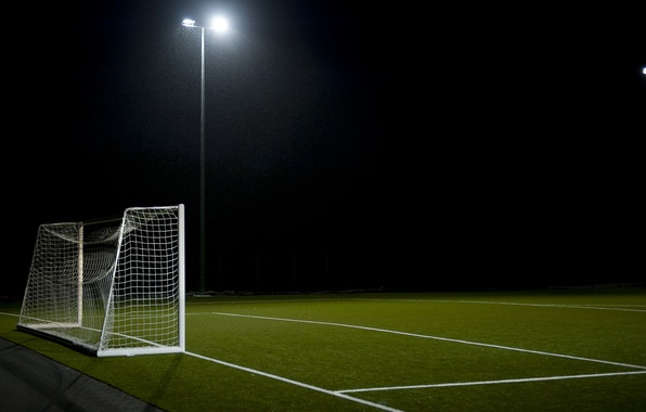 Picture field, football, sport, gate