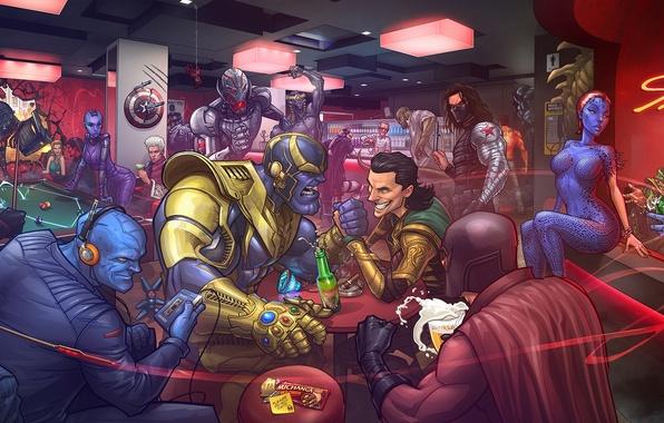 Picture Mystic, X-Men, art, electro, Nebula, venom, Red Skull, Emma Frost, marvel comics, Patrick Brown, loki, …