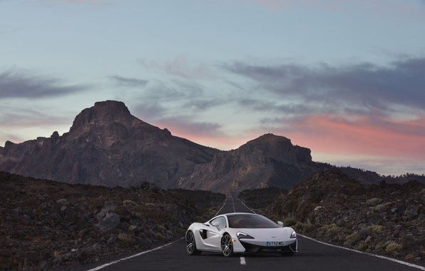 Picture road, the sky, McLaren, supercar, car, beautiful, McLaren, 570GT