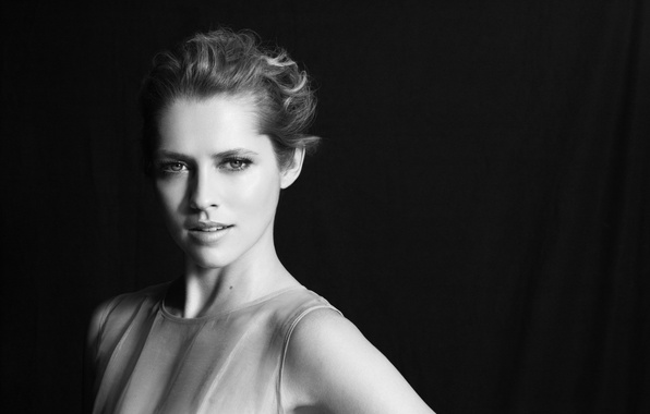 Picture actress, blonde, black and white, Teresa Palmer, Teresa Palmer