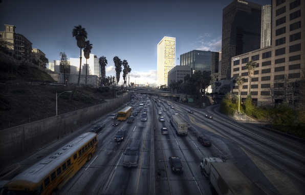 Picture landscape, the city, Los Angeles, CA, Los Angeles, L.A., City of Angels