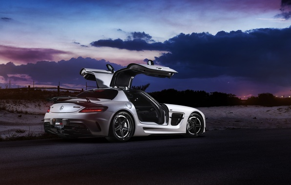 Picture car, Mercedes, Mercedes SLS, tuning, rechange, Black Series, William Stern, RennTech