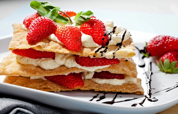 Picture berries, strawberry, cake, cake, cake, cream, dessert, cakes, sweet, sweet, strawberry, dessert, berries, snack