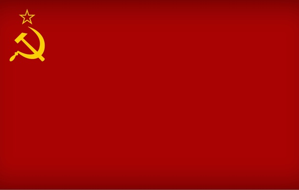 Picture red, star, flag, USSR, the hammer and sickle, communism