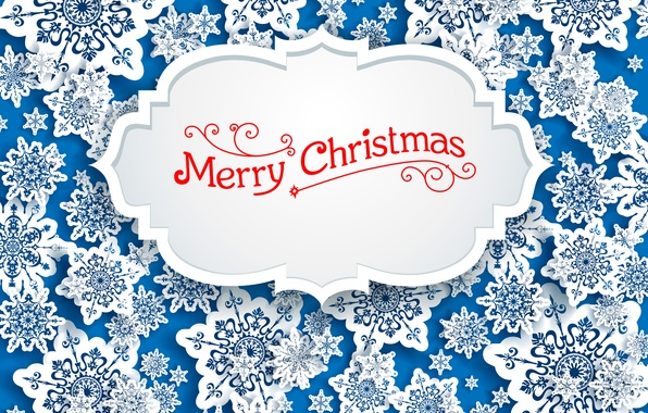 Picture Snowflakes, Vector, Merry Christmas