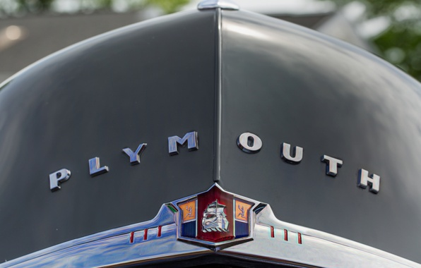 Picture retro, the hood, emblem, Plymouth