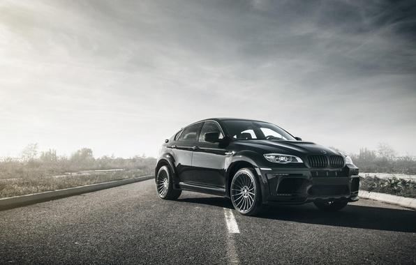 Picture car, bmw, light, black, hamann, tuning, BMW X6M