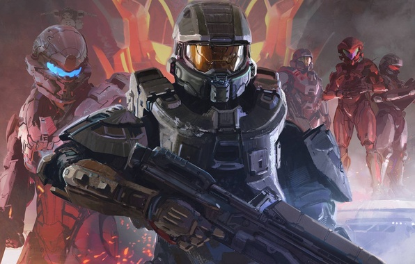 Picture Look, Microsoft, Weapons, Halo, Art, The Master Chief, Master Chief, 343 Industries, Halo 5: Guardians