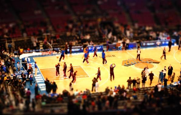 Picture Wallpaper, sport, New York, wallpaper, hall, basketball, arena, Playground, New York, the audience, nba, Tilt-shift, …