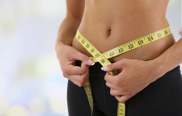 Photo wallpaper sexy, tape, weight loss, metric