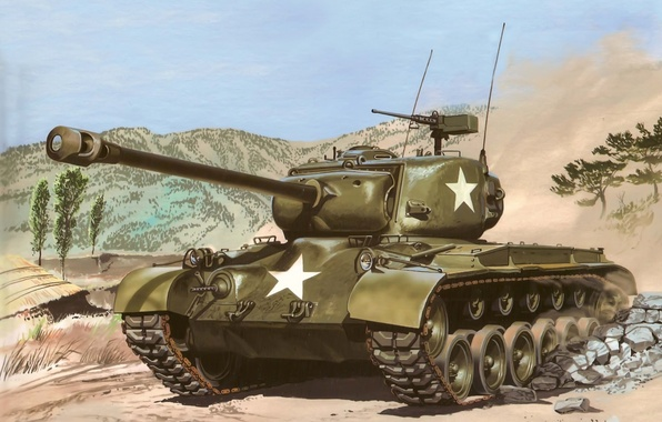 Picture USA, history, World of tanks, WoT, medium tank, Pershing, M26 Pershing