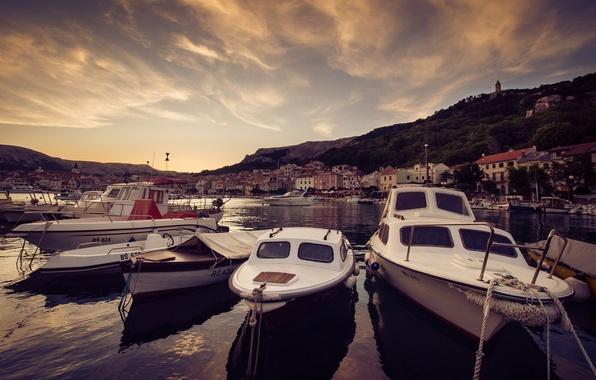 Picture Bay, boats, port, boats, Croatia, Croatia, Head, Baska